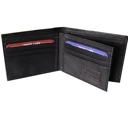 saw - 626, bi-fold wallet leather, black