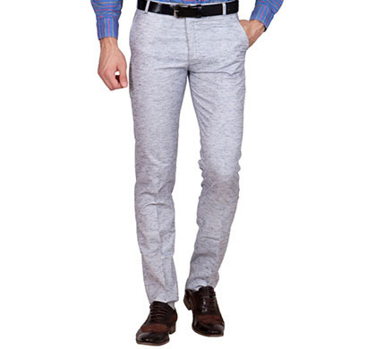 shaurya-f tr-25 regular fit men's grey trousers