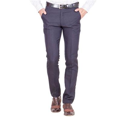 shaurya-f tr-23 regular fit men's blue trousers