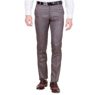 shaurya-f tr-21 regular fit men's brown trousers