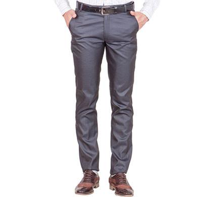 shaurya-f tr-18 regular fit men's grey trousers