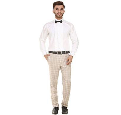 shaurya-f tr-12 regular fit men's brown trousers