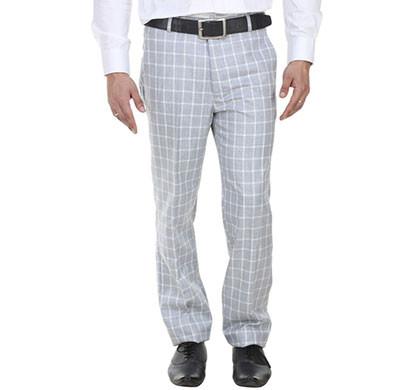 shaurya-f tr-9 regular fit men's light blue trousers
