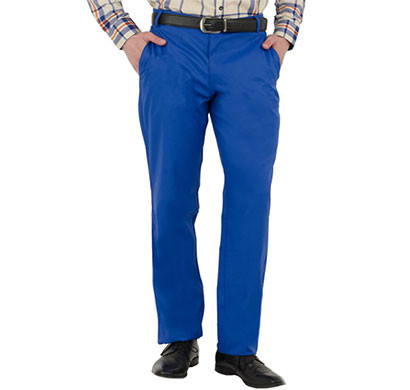 shaurya-f tr-259 blue terry rayon flat front formal trousers