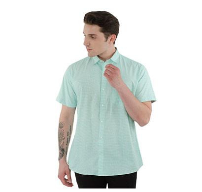shaurya-f men's half sleeve solid casual shirt