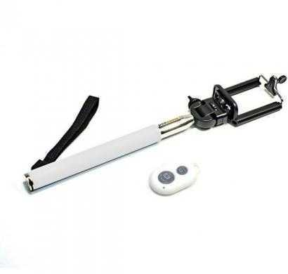 acromax selfie stick with bluetooth remote for all smartphones/point & shoot camera (white)