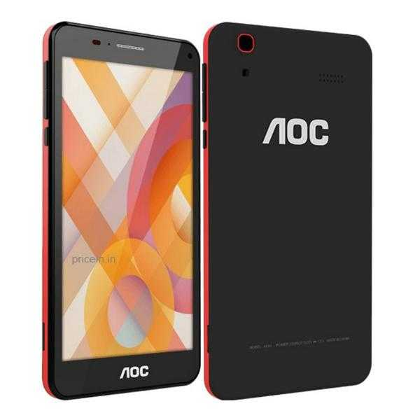 AOC 6 inch Smartphone M601 (Black/Red)