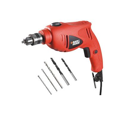 black and decker hd5010va5 550-watt variable speed hammer drill kit (orange)