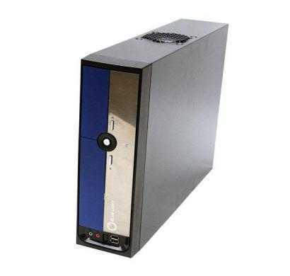 bluelight blueblack itx computer case with 225w-20-4 pin psu