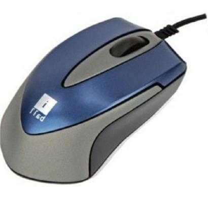 iball mini-mice x9 - double retractable blue eye wired optical mouse(usb, blue)