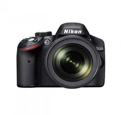 nikon d3200 (with af-s 18-105 mm vr lens) 24.2 mp dslr camera (black) + free nikon dslr bag + 8gb me