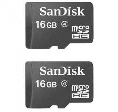 sandisk microsdhc 16 class 4 gb memory card (pack of 2)