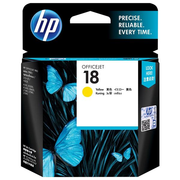 HP 18 Yellow Ink Cartridge C4939A