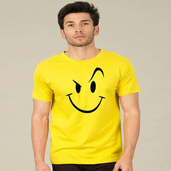 Wink New Half Sleeve T-Shirt Yellow